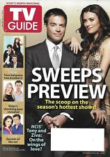 TV Guide Magazine NCIS Michael Weatherly Cote de Pablo Castle Set Secrets 2010