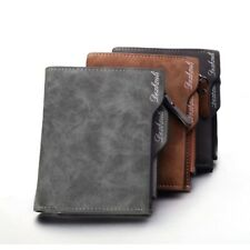 Man Leather Wallet Credit Card Holder Purse Coin Slim Business Style Brown Black