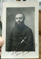 1931 276) FOTOGRAFIA AUTOGRAFA MISSIONARIO AFRICA GAETANO SEMINI CASORATE PRIMO