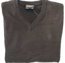 Southpole Collection Brown Size XL Men's Ribbed Long Sleeve V-Neck Solid Sweater