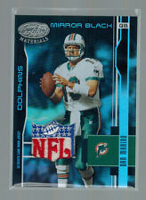 2003 03 DAN MARINO LEAF CERTIFIED NFL LOGO SHIELD PATCH MIRROR BLACK #ED 1/1