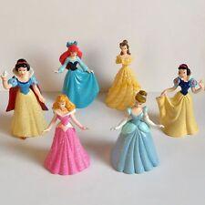 Princess Snow White Cinderella Aurora Belle Ariel Princesses Cake Topper Figures
