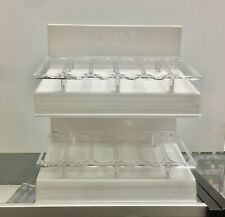 Brand New OPI Empty White & Clear Nail Polish Display Rack Hold Up to 36 Bottles