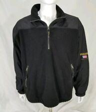 Woolrich John Rich and Bros Black 1/2 Zip Up Fleece Jacket Mens Size XL