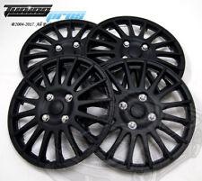 "Hubcap 15"" Inch Wheel Rim Skin Cover 4pcs Set Matte Black -Style 611 15 Inches-"
