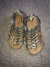 Cherokee Toddler Sandals Size 8 Gold
