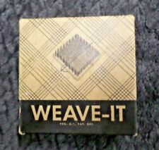 Vintage Weave It Hand Weaving Loom w/Instructions Donar Products