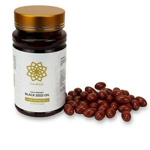 120 x STRONG Cold Pressed Black Seed Oil Capsules 500mg With Multivitamins