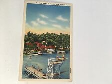 SILVER SPRINGS, FL  Florida  BEACHGOERS, Diving Platform, Boats c1940's Postcard