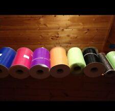 Tulle Roll Lot Of 8! 6�black, orange, blue, purple, fuchsia, green, & 2 Shimmer!