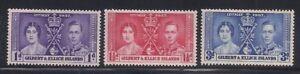 Gilbert & E.   1937   Sc #37-39   Coronation   MLH   OG   (5020-)