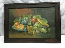 Antique Lithograph Print In Frame Assorted Fruit by Arnold Forester Artist Print