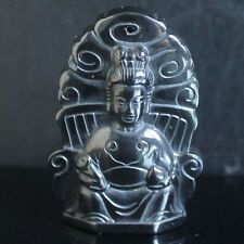 g3973  45mm Hematite buddha pendant bead
