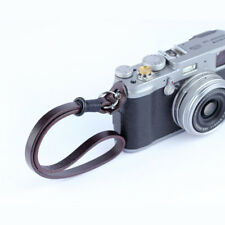 Craft Spain Leather Camera 8mm Hand Wrist Strap for Leica Canon Sony Fuji Black