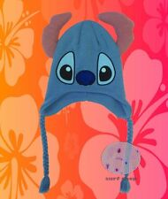 New Disney 3D Lilo And Stitch Face Laplander Hat Ears Cap Beanie