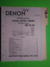 Denon dvd-1500 service manual original repair book dvd player 42 pages