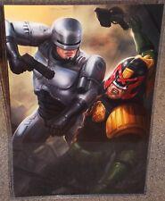 Robocop vs Judge Dredd Glossy Art Print 11 x 17 In Hard Plastic Sleeve