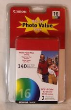 Canon BCI-16 Photo Value Pack 2 x Ink & 140 Sheets of 4 x 6 Paper - Sealed