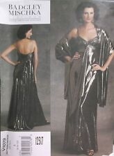 12517-NEW PATTERN WEDDING DRESS EVENING WEAR DRESS STOLE 6 8 10