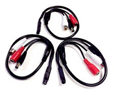 PACK OF 3 x Sensitive MICROPHONE IN-LINE 60M² 12V Audio Mini Spy Hidden Mic CCTV