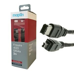 Maplin Firewire 400 1394a 6 Pin To 4 Pin 3 Meters