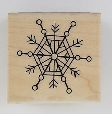 Rubber Stamp Snowflake Doodle Flake Winter Holiday New Wood Mounted Inkadinkado