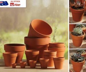 UP TO 10 PCS TERRACOTTA POTS POTTERY CERAMIC FLOWER PLANT SUCCULENT POTS 13 SIZE