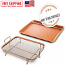🌟 Steel Copper Crisper Tray - AIR FRY IN YOUR OVEN - As Seen on TV - NEW!