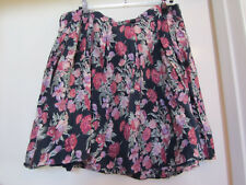 Fat Face Vintage Pleated Blue Pink Green Floral Lined Short Skirt in Size 14