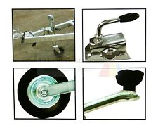 Pneumatic jockey 48mm  wheel & clamp with easy to fit Caravan Trailer Get fast