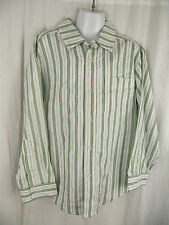 BNWOT Boys Sz 8 Target Brand Green Stripe Long Sleeve Semi Formal Cotton Shirt