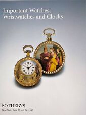 Sotheby's Watches Clocks - Auktion Katalog - auction catalogue - Uhren 1997