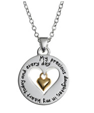 "Sentimental Expressions LArocks Silver My Precious Daughter 18"" Necklace $60"