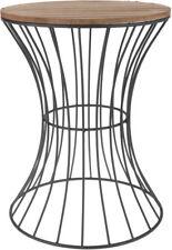 Design Beistelltisch Metall 39x30 cm - Holz Deko Tisch - Couchtisch Nachttisch