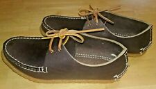 Arrow Moccasin Two Eye Tie w/ Crepe Sole Mens Sz 7D or Womens 9D Hand Sewn New