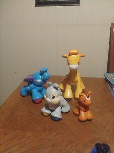 Fisher Price Clicker PalsGiraffe, Elephant, Thumper Bunny & Pony