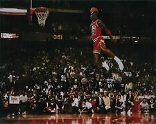 """MICHAEL JORDAN POSTER FLYING DUNK FROM FREE THROW FOUL LINE 24""""X36"""" NEW"""