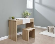 Marlow Dressing Table Mirror Stool Oak/White LOCAL Delivery FREE ASSEMBLY