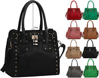 New Ladies Celebrity Studs Womens Shoulder Bag Fashion Tote Hobo Satchel Handbag