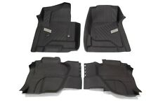 OEM NEW Premium All Weather Floor Mats Front & Rear SET Cocoa Silverado Extended