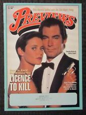 1990 PREVIEWS Magazine v.4 #5 FVF 7.0 James Bond / Licence to Kill