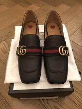 NUOVE Scarpe Gucci Peyton Donna-Tacco Medio Blu Scuro-UK 6 EU 39-si prega di vedere l'inserzione