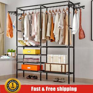 Heavy Duty Clothes Rail Rack Garment Hanging Display Stand Shoe Storage Shelf AU