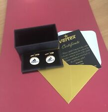 ADIDAS cuff links in Luxurious Gift Box 24k GP Gold Pleated