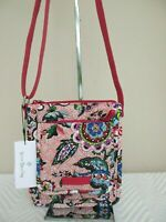 New Vera Bradley Iconic RFID Mini Hipster Crossbody in Stitched Flowers NWT $50