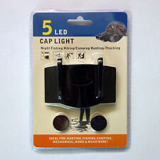 NEW Clip On 5 LED Cap Hat Light Hands Free Fishing Camping Mechanical Work
