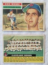 Lot/2 Topps Baseball 1966 Cleveland Indians #85 Team Card and #39 Don Mossi