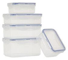 Lock & 5 rectangulaire Bacs de rangement boite Clip Couvercle plastique sans BPA