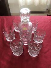 Service à whisky cristal d'Arques Luminarc