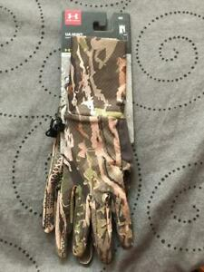UNDER ARMOUR FOREST CAMO COLDGEAR GLOVES L LG WOMEN NWT $$$$